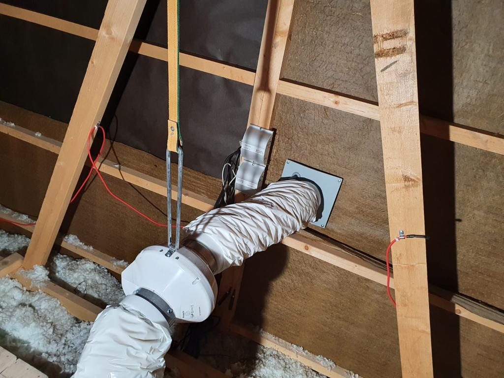 Avfuktare installation och el koppling